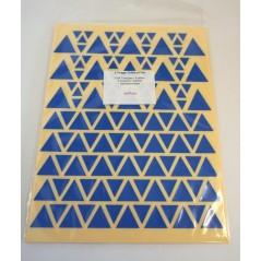 Gommettes triangles assorties Pochette de 10 feuilles