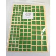Gommettes carrées assorties Pochette de 10 feuilles