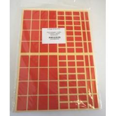 Gommettes rectangles assorties Pochette de 10 feuilles