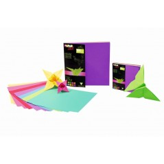 Papier Origami - 80 g -pochette de 100 feuilles 12 x12