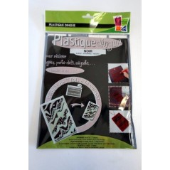 Poch. plastique dingue noir 262*202 mm 7 fl