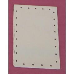 Fond contre plaqué rectangulaire 20 x 12 cm Bois - Rotin -Macramé 1,30 €