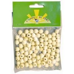Sachet 200 perles bois rondes diam 8 mm