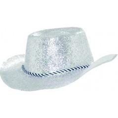 Chapeau Cowboy Pailleté Argent