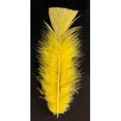 Sachet plumes ordinaires jaunes