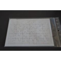 Puzzle en carton Blanc 30 pièces