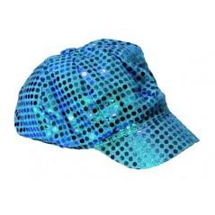 Casquette disco turquoise