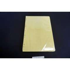 Lot 10 Feuillets mob 21*29.7 jaune 100 p -5x5