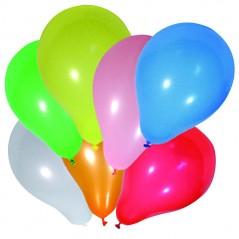 Sachet de 10 ballons multicolores diam 30
