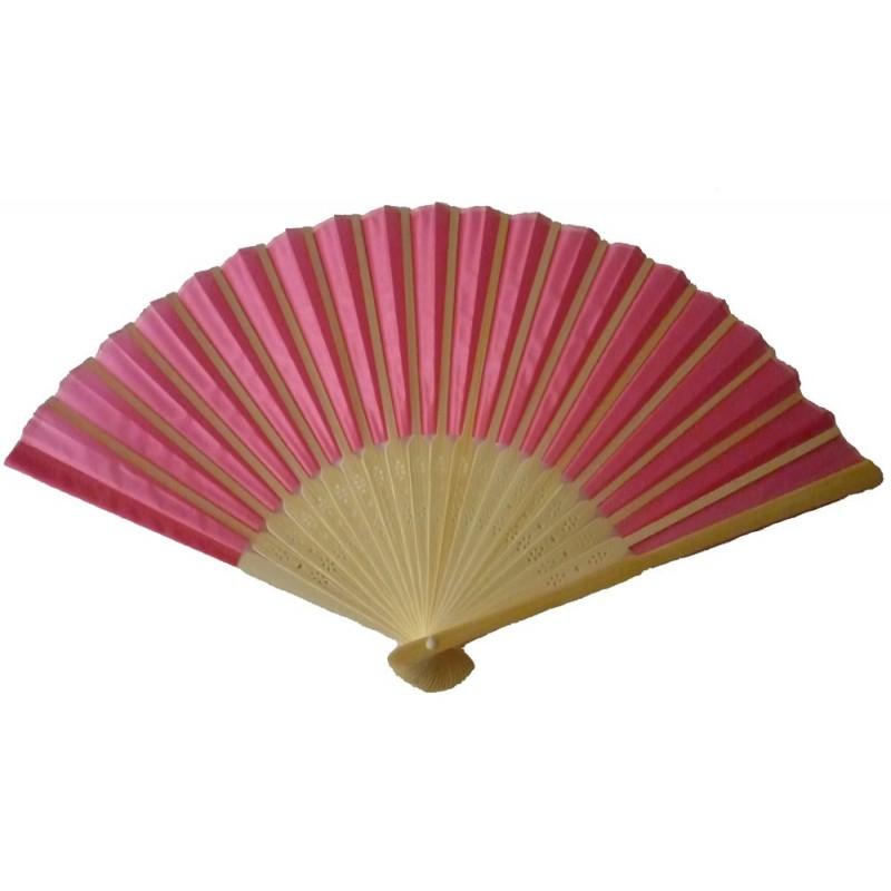 Éventail rose pour animer toutes vos soirées , éventail tissu rose