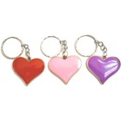 Porte-clés coeur métal 3.5x3.5 cm joli porte clés coeur métal pour vos soirées St Valentin