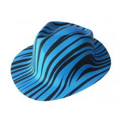 Chapeau zébrés bleu fluo plastic Chapeaux 0,99 €