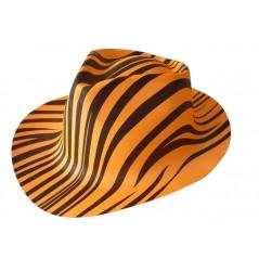 Chapeau zébrés orange fluo plastic Chapeaux 0,99 €