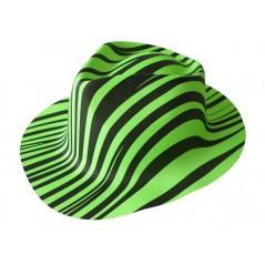 Chapeau zébré vert