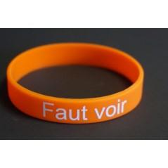 """Bracelet """"Faut voir"""" soirée Célibataire, des bracelets vert, orange , rouge pour savoir avec on va."""