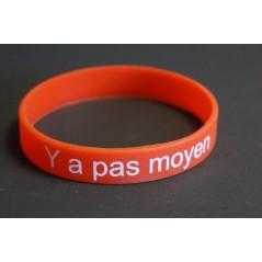 """Bracelet """"Y a pas moyen"""" soirée Célibataire, des bracelets vert, orange , rouge pour savoir avec on va."""