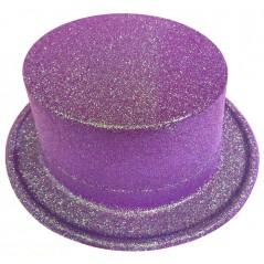 Haut de forme pailleté fluoChapeau pailleté fluo, pour animer toutes vos soirées à thème. Chapeau haut de forme pailleté fluo ,