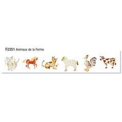 Pochoir scolaires animaux de la ferme pochette de 6 motifs