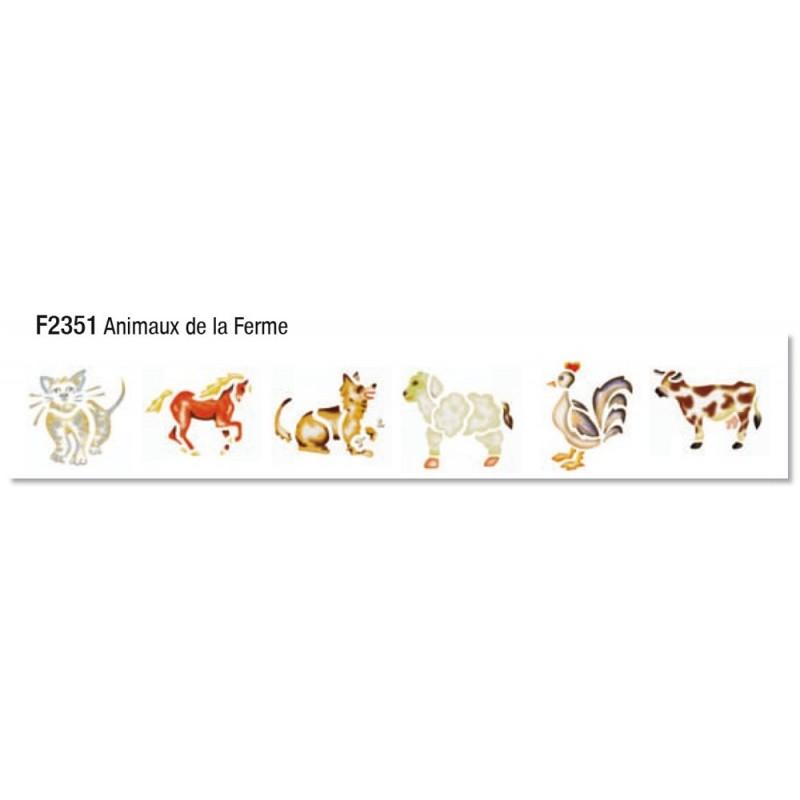 Pochette 6 pochoirs animaux de la ferme' Pochoirs 4,08 €