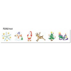 Pochette 6 pochoirs 'Noël' Pochoirs 4,08 €