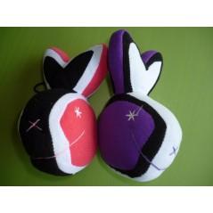 Peluche tête de lapin 14 cm couleurs assorties