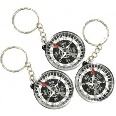 12 Porte clés Boussole diam 4.5 cm
