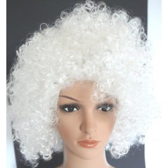 Perruque petite AFRO Blanche