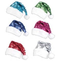 Bonnets de Noël avec sequins Lot de 24