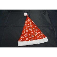 Bonnet Noël rouge flocon argent