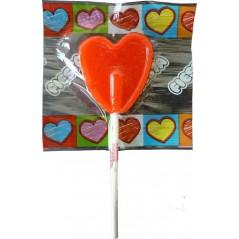 Boite de 80 Sucettes coeur rouge Saint Valentin 15,90 €