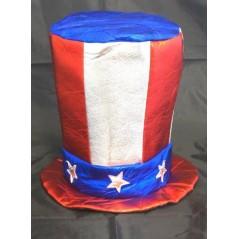 Chapeau Haut de forme USA tissu luxe