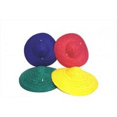 Chapeau chinois paille couleurs ass