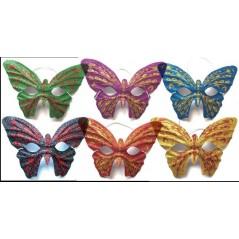 Loup papillon paillettes assortis 17*18 cm