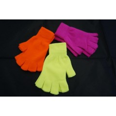 Mitaine fluo Hiver couleurs assorties