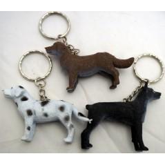 12 Porte clés chien 5.7 cm