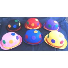 6 Chapeaux feutre clown couleurs assorties