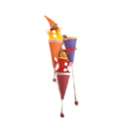 marionnette clown coulissant 23cm