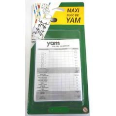 Blister 2 blocs papier pour jeu de Yam