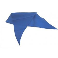Foulard de marquage bleu 82x57cm