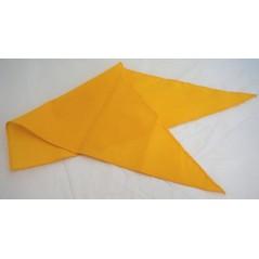 Foulard de marquage jaune 82x57cm