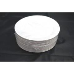 carton de 500 assiettes à dessert en carton blanches