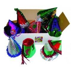 Chapeaux hologrammes carton de 25