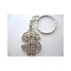12 Porte-clés Dollar argenté
