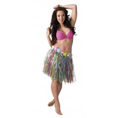 Jupe Hawaienne plastifiée multicolore 45 cm Tropical 1,79 €
