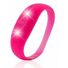 Bracelet lumineux mouvement silicone Rose