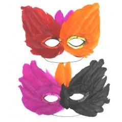 Loup Plumes couleurs assorties 26cm x 12 cm Loups et Masques 0,79 €