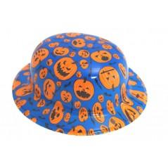 Chapeau Melon Bleu et citrouille orange PVC