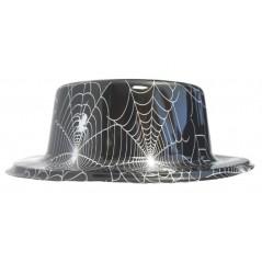 Haut de forme noir et toiles araignées PVC