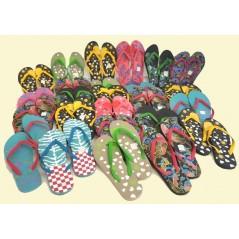 Lot de 25 paires de Tong Femme Fantaisie