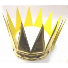 Couronne de Reine tissu Or